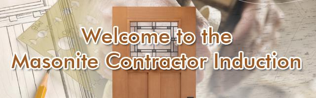 Masonite Contractor Induction